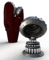 3d tri cone drill bit model