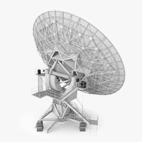3d model of vla radio telescope