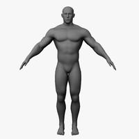 3d male wrestler