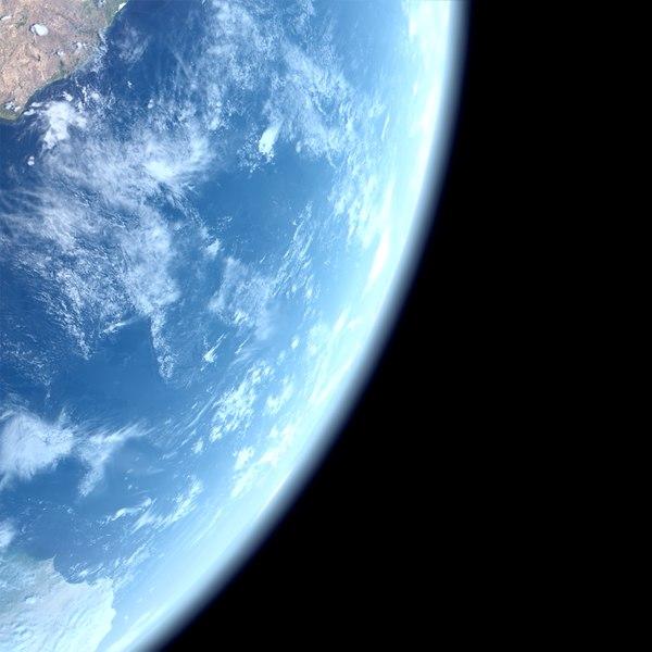 3d model of solar 86k earth surface