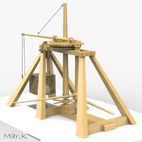 catapult leonardo da 3d model