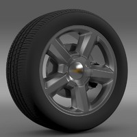 chevrolet tahoe 2008 wheel 3d 3ds