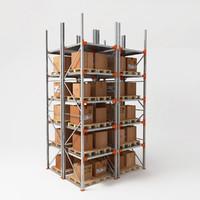 3d pallet racks model