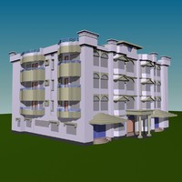 community hall building 3d model
