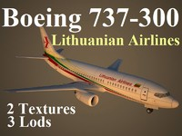 3d boeing 737-300 lil