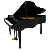 Grand Piano: Black Finish