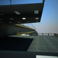 highway bridge 3d obj