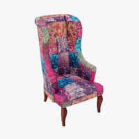 3d model vintage armchair chair