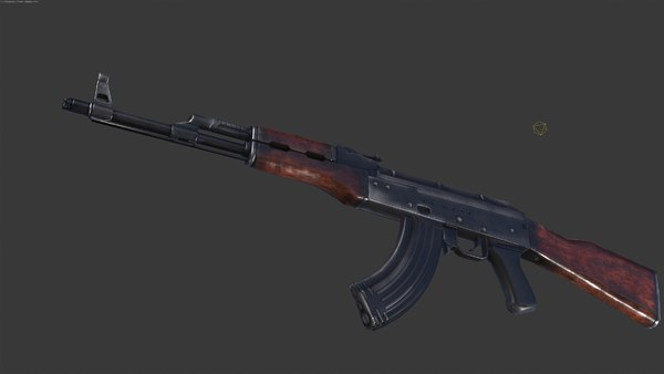 max akm ak 47 - AKM Low Poly... by sarayel