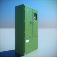 3d model medium electric cabinet