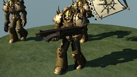 chaos marine rigged 3d model
