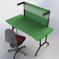 maya office table writing desk
