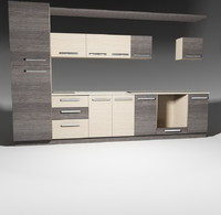 model kitchen furnitures pack 1