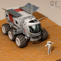 3d lunar vehicle model