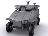 3d model unmaned vehicle