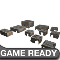 3d slum building pack