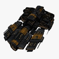 3ds max upgraded ship space battleships