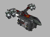transport starship 3d max