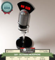 G69-OLD RADIO MICROPHONE