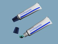 3d realistic toothpaste paste model