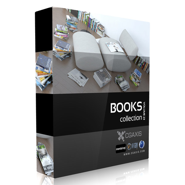 3d book set - Books Set 07... by cgaxis