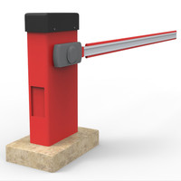 automatic barrier 3d obj