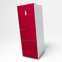 haier refrigerator 3d obj