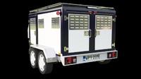 3d trailer police model