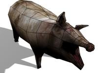 pig games 3d model