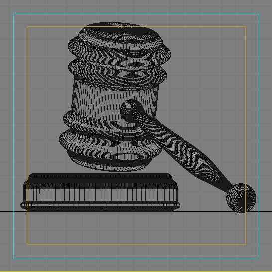 3d gavel model - Gavel... by BARAKA