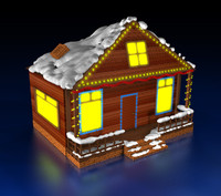 cinema4d christmas house