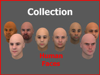 heads faces 3d max