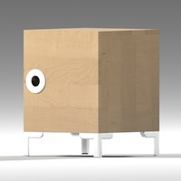 ikea engan bedside cabinet 3d 3ds