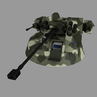 12 mb2 turret apc 3d model
