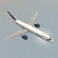 3ds max airliner b 757-200 delta