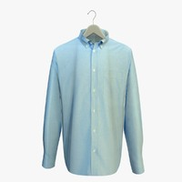 blue shirt hanger 3d model