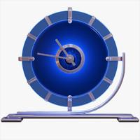 Blue Deco Desk Clock