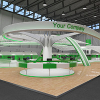 booth exhibition hall 3d model