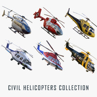 civil helicopters 3d model