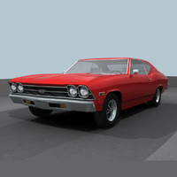 3ds max chevelle 1969 ss
