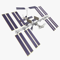 3d model international space station
