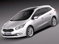 3d model kia ceed 2013 sw