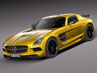3d model of mercedes benz sls amg