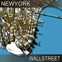 new york manhattan streets 3d model