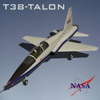 free northrop t-38 talon 3d model