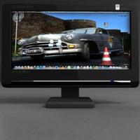 monitor computer tft 3d model