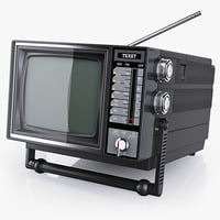 3ds max old portable tv texet