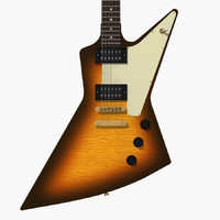 3ds max gibson explorer guitar