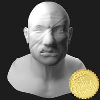 3d obj resolution sculpted scars face head