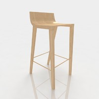 Bar stool 73 ash wood
